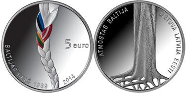 Балтийский путь монета, монета Латвии