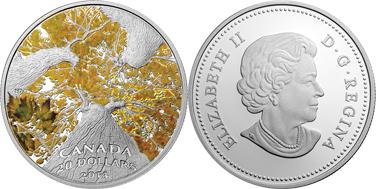 монета Канады, серебряная монета