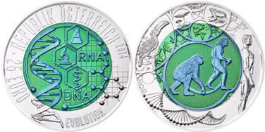 биметаллическая монета, монета из ниобия и серебра