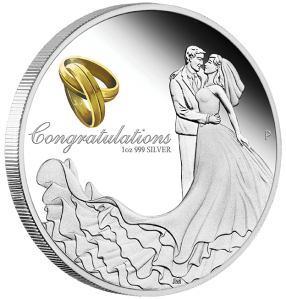 2016-Wedding-Silver-1oz-Proof-Coin 1 dollar Perth Mint Reverse