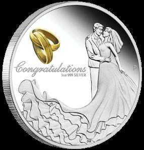 2016-Wedding-Silver-1oz-Proof-Coin 1 dollar Perth Mint Reverse