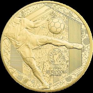 Золотая монета ЕВРО 2016 500 евро Монетный двор Франции