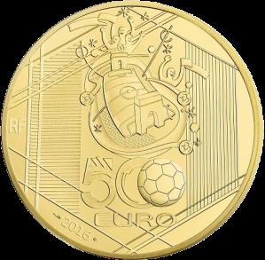 Золотая монета ЕВРО 2016 500 евро Монетный двор Франци Реверс