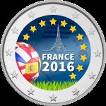 Цветная монета 2 евро ЕВРО-2016