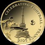 Золотая монета ЕВРО 2016 Кот дИвуар 1000 франков 0.5 г