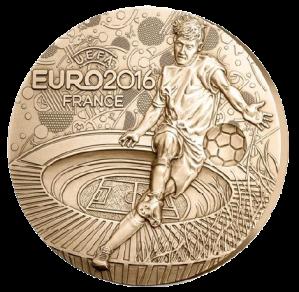 Бронзовая медаль ЕВРО 2016 Парижский монетный двор - Аверс