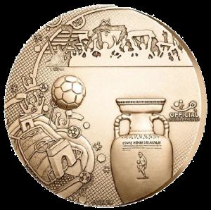 Бронзовая медаль EURO 2016 Монетный двор Франции - Реверс