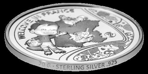 Официальные медали ЕВРО 2016 из серебра имеют на гурте обозначение пробы