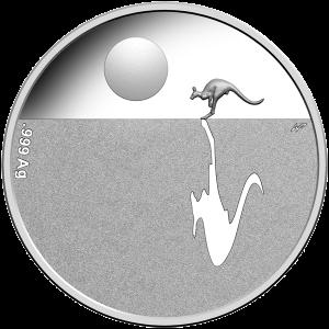 Серебряная монета Кенгуру на рассвете 2016
