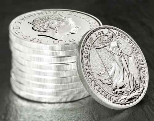Инвестиционные серебряные монеты Великобритании 2016 Британия