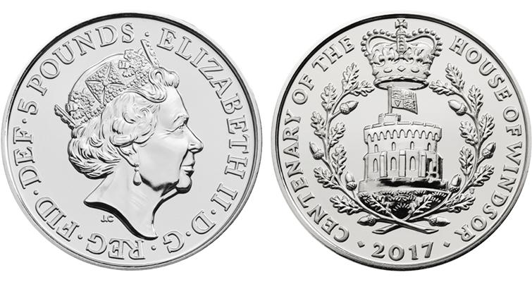 5 фунтов стерлингов монета подстаканник лиса и козёл
