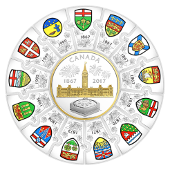 150th Anniversary of Canada Silver Puzzle Coin Reverse