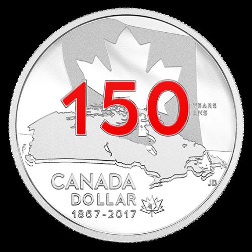 Серебряный доллар к 150-летию Канады