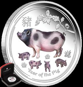 01-2019-YearOfThePig-1oz-Silver-Coloured-ProofCoin-Main